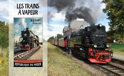 Niger 2016 Sheet Mnh Steam Trains Trenes Locomotives Locomotoras 2A