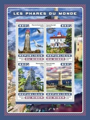 Niger 2016 Sheet Mnh Lighthouses Phares Farois Fari Faros 7