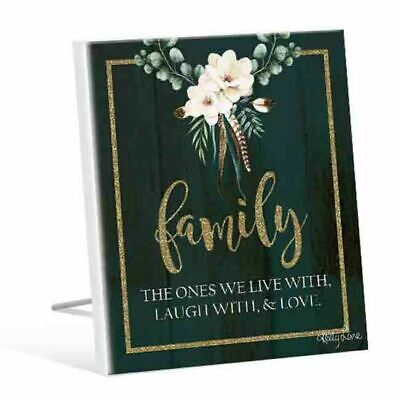 French Country Vintage Wooden BOHO LUXE FAMILY WE LIVE WITH Sign New