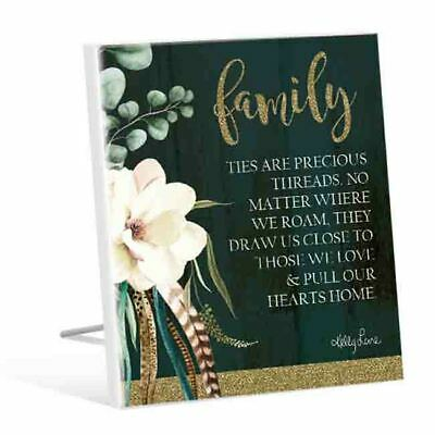 French Country Vintage Wooden BOHO LUXE FAMILY ARE PRECIOUS Sign New