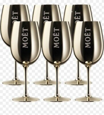 6 X Moet & Chandon Rare Gold Goblets / Glasses Ice Imperial Acrylic Brand New