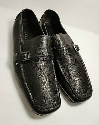 e55965465af GUCCI Black Leather Exclusive Edition Men s Side Bit Loafers Size US 8.5 D