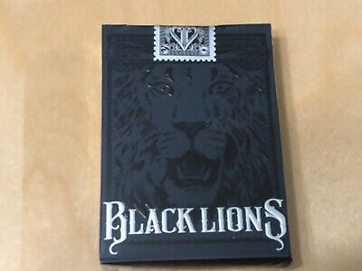 Black Lions Black David Blaine Rare Playing Cards New USPCC EPCC LEGENDS