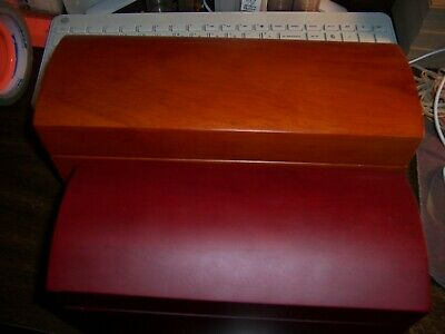 (Lot Of 2)Wooden Type Boxes-1 Holds 15 Slabs-1 Holds 20 Slabs-Protect Your Coins