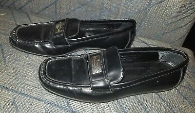 1a72d2d5a9a Coach Womens Slip On Leather Penny Loafers 7m Black Dress Shoes
