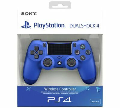 PS4 DualShock 4 V2 Wireless Controller Wave Blue Brand New & Sealed - Official
