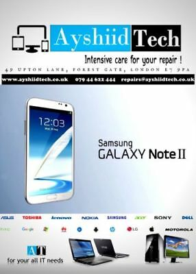 SAMSUNG GALAXY Note 2 FRONT SCREEN GORILLA GLASS REPAIR/REPLACEMENT SERVICE