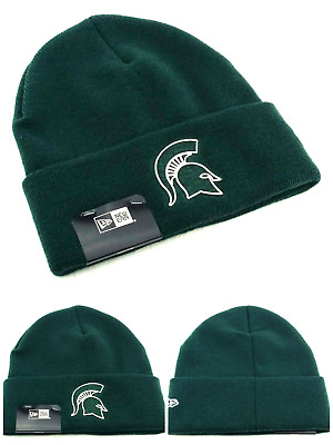 new style a6471 547e8 Michigan State St Spartans New Era Shadow Cuffed Toque Beanie Green Knit  Hat Cap