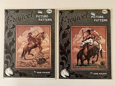 Craftool Leather Picture Patterns 6006 Cattleman & 6007 Buffalo Brave Gene Nolan