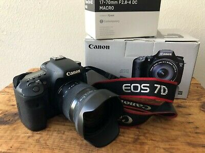 Canon EOS 7D 18mp DSLR Kit with 17 - 70MM Sigma Lens, CompactFlash, and more!