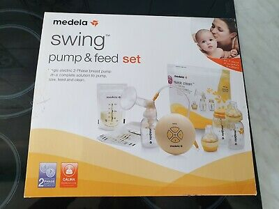 medela swing breast pump and feed set