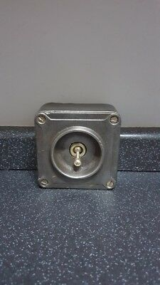 Crabtree Vintage Cast Iron Industrial Light Switch 0ne Gang Salvaged Reclaimed 1