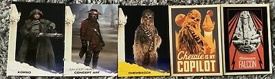 Lot Of 5 Topps Hobby Star Wars Solo Trading Cards