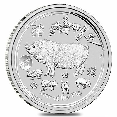 2019 Australia Year Of Pig With Lion Privy 1 Oz Silver In Original Mint Capsule