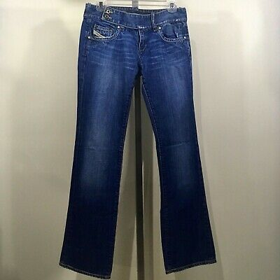 a7f16ae5 Diesel Women's Cherone Bootcut Jeans Medium Wash Made In Italy Size 30, L32,