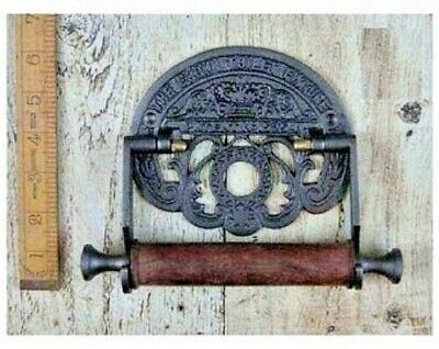 CAST IRON CROWN  TOILET ROLL HOLDER- 6 x 8 inches