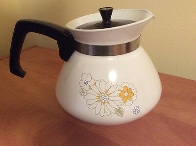 Vintage Corning Ware FLORAL BOUQUET 6 CUP TEAPOT Original Corning Made in USA T3