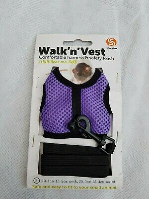 SHARPLES Walk'n'Vest Adjustable Harness with Bell - for Small Animal - SIZE S