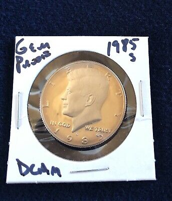 1985-S Kennedy Clad Proof Half Dollar Cameo - Great looking coin. Free Shipping!