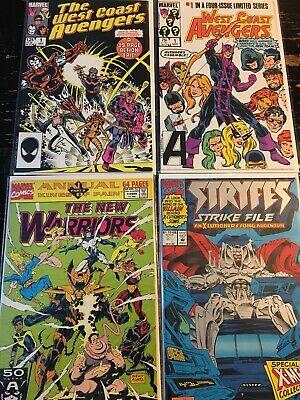West Coast Avengers #1 New Warriors Annual #1 Stryfes #1 Free Combine Shipping