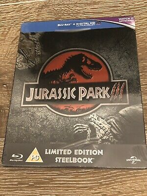 Jurassic Park III Limited Edition Blu Ray Steelbook Brand New And Sealed Rare