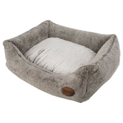 Nobby Dog Bed Rectangular Cuddly Light Brown, Various Sizes,