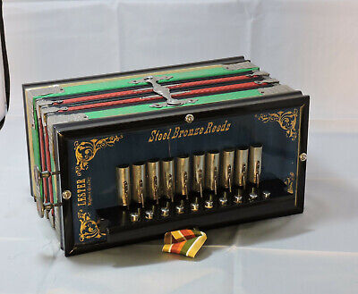 Vintage Lester Accordion, German Style, ca 1910. Fully Restored!