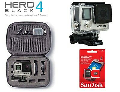 GoPro HERO 4 HERO4 Black Edition CHDHX-401 / chdhy-401 with CASE and accessories