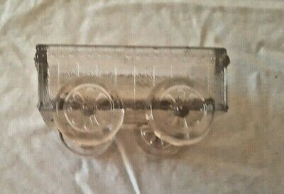 Vintage Clear Pressed Glass Eapg Novelty Cart Wagon Candy Container Dish