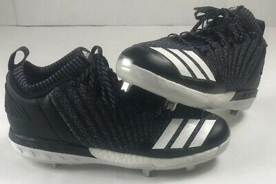 new styles 70ff5 0a61c Adidas Boost Icon 3 Metal Baseball Cleats Knit Black White DB1793 Men Sz  11.5