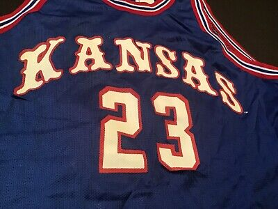 free shipping 775b4 2a306 VINTAGE KANSAS JAYHAWKS Basketball jersey #23 by DeLong size XL