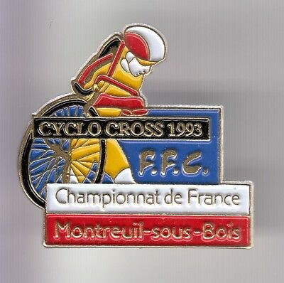 Rare Pins Pin's .. Velo Cyclisme Cycling Ffc Championnat Cross Montreuil 93 ~Dw