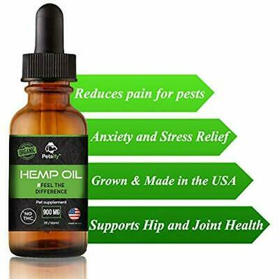 """Petsify Organic Hemp Oil For Dogs And Cats Anxiety """" Pain Relief, Hip Joint Aids"""