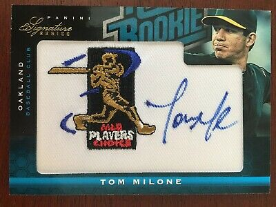 2012 Panini Signature Series #144 Tom Milone RATED ROOKIE PATCH AUTO /299