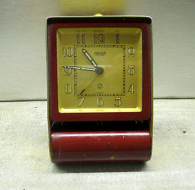 A Vintage Jaeger Le Coultre 2 Day Folding Travelling Alarm Clock