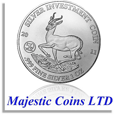 2011 Springbok Malawi African Wildlife 1 oz .999 Pure Silver Coin in Capsule