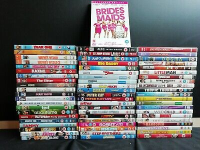 64 x Comedy DVD's - Peter Kay, Bridesmaids, Ted & more (E512)