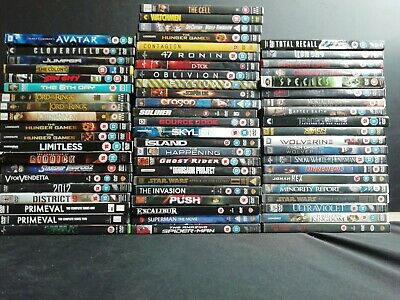 64 x Sci-Fi-Fantasy DVD's - Lord of the Rings, X-Men, Sin City & more (E508)