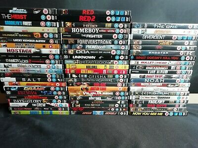 64 x Action DVD's - Red, Kill Bill, Hostage & more (E511)