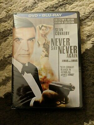 Never Say Never Again [1983] (Blu-ray + DVD)~~~~Sean Connery~~~~NEW SEALED