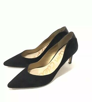 53cfbfe6f Sam Edelman Women High Heel Pump Orella Black Velvet Leather Shoes Size 11 M