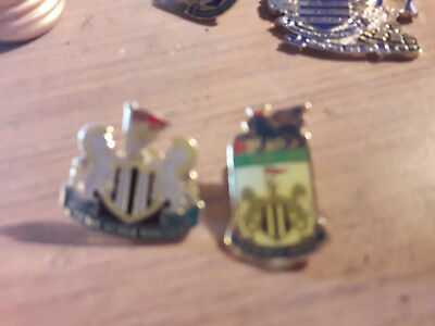 Two Newcastle United Fc New Enamel Pin Badges One Premier League