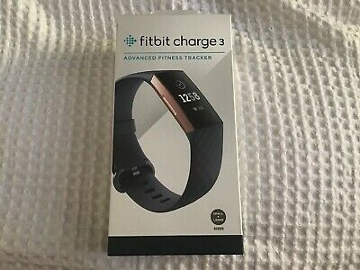 Fitbit Charge 3 - Blue Grey/Rose Gold Aluminium In NEW CONDITION