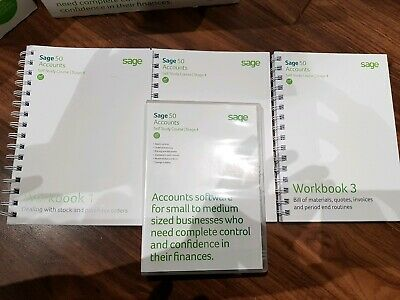 Used Sage 50 accounts Training level 4 certification materials books and CD