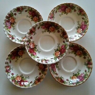Royal Albert Old Country Roses 1962 Lot Of 5 Saucers