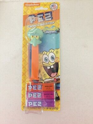 Nickelodeon PEZ: Spongebob Squarepants Squidward Candy / Dispenser NEW Defects