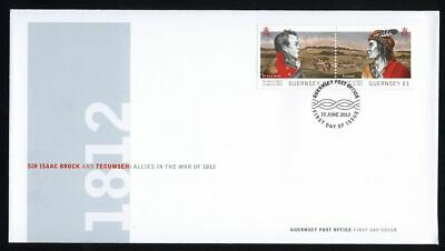 WAR 1812 = CANADA - GUERNSEY = Joint Issue = OFDC, FDC Guernsey 2012