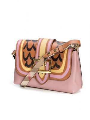 52b8d8b54667 Authentic Burberry Small Medley Shoulder Pink Leather Cross Body Bag RP  1200