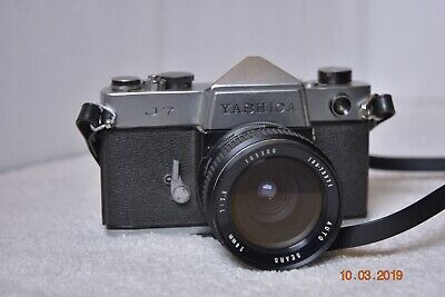 Yashica J7 SLR 35mm Camera with Sear 28mm f2.8 Lens In Very Good Condition.