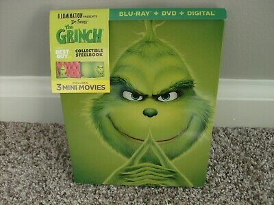 The Grinch (2018) Blu-Ray / DVD Steelbook (No digital)